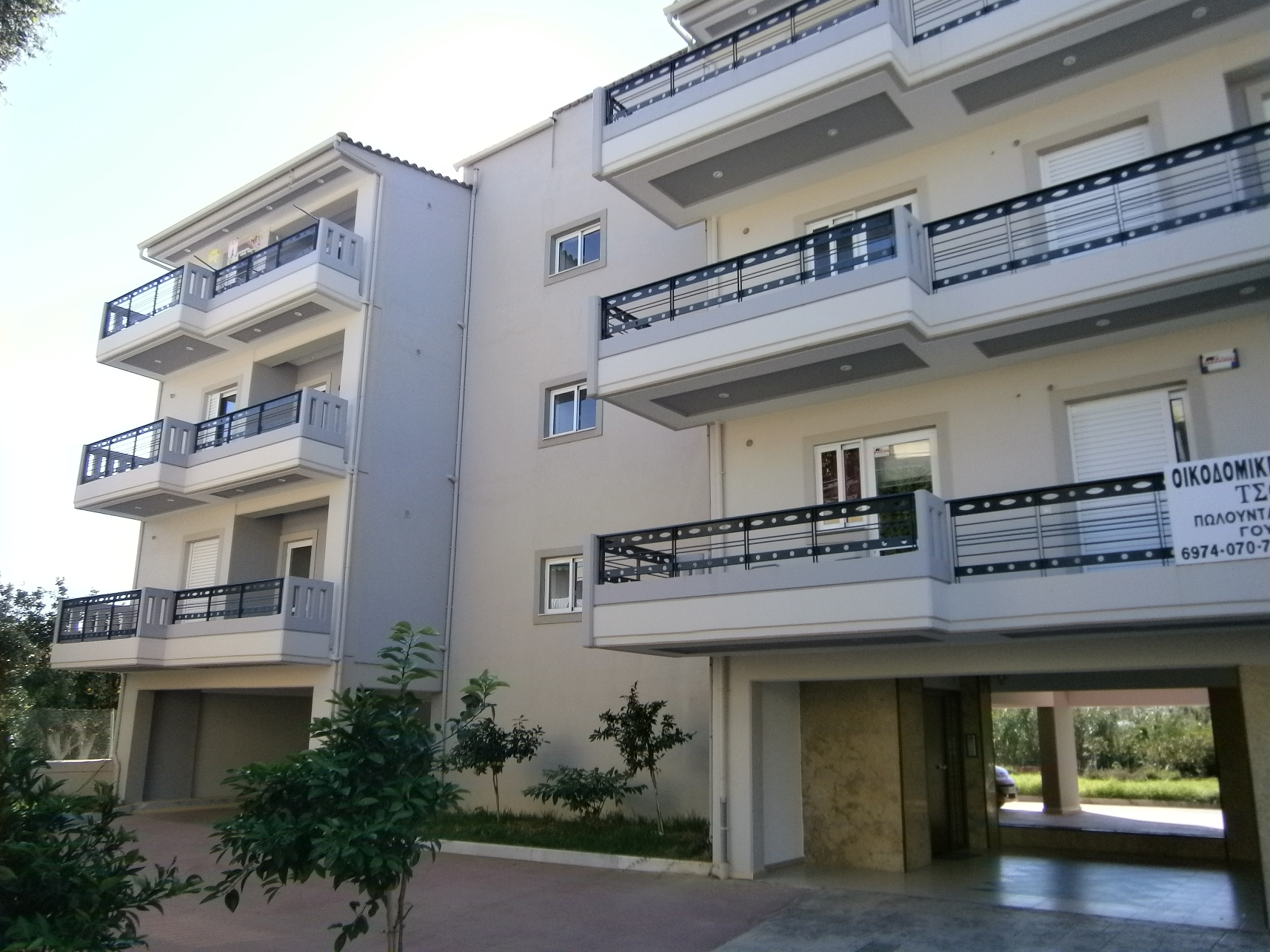Front Elevation With Stilt Parking : Eglikados st patras newly built storey apartment